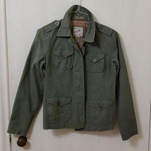 Ruff Hewn womens green utility jacket size M…